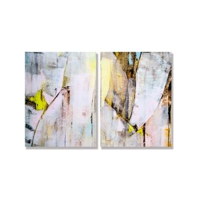 【24mama 掛畫】二聯式 藝術 抽象 無框畫 30x40cm(彩色油畫02)