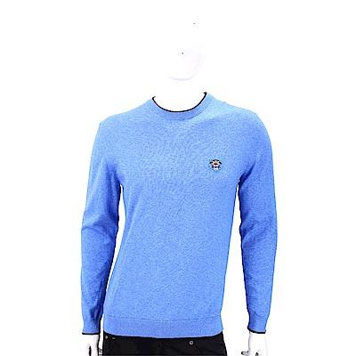 KENZO Tiger 虎頭刺繡水藍色針織衫(男款)