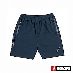 SASAKI 抗紫外線功能四面彈力網球短褲-男-丈青/亮藍