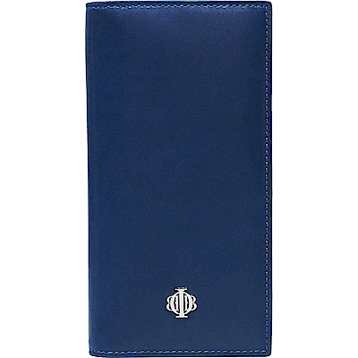 OBBI LAI 寶藍色小羊皮長夾皮夾錢包