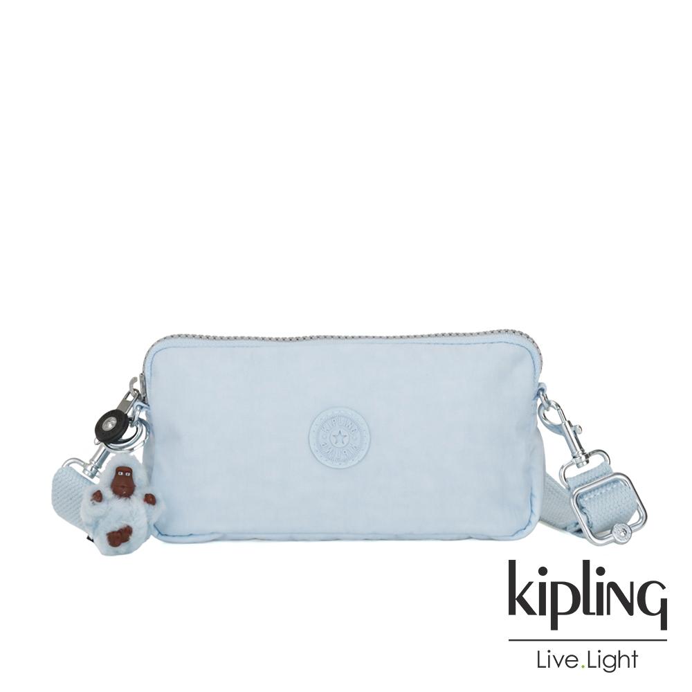 Kipling 棉花糖藍側背多功能配件包-EMILIA