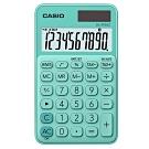 CASIO 10位元甜美馬卡龍輕巧口袋型計算機(SL-310UC-GN)-薄荷綠