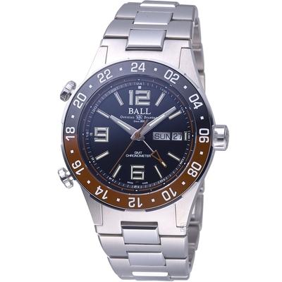 BALL WATCH Roadmaster Marine GMT 瑞士天文台認證機械錶(DG3030B-S3C-BK)黑x棕-40mm
