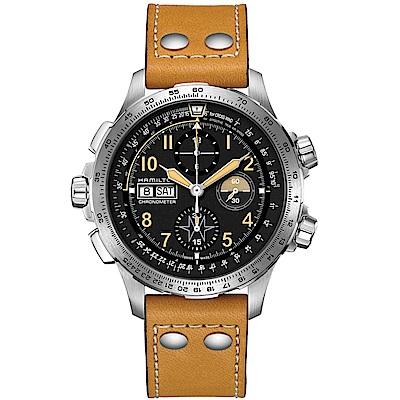 Hamilton漢米爾頓卡其航空系列超越風速計時限量腕錶(H77796535)