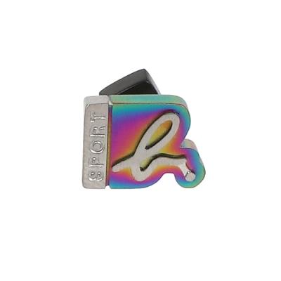 agnes b. - Sport b. logo造型貼耳式單耳耳環(中性)(炫彩)