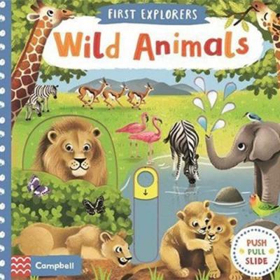 First Explorers:Wild Animals 小小探險家:野生動物篇推拉硬頁書