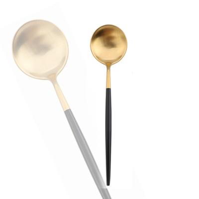 Royal Duke (2入組)葡萄牙同款點心匙/茶匙/咖啡匙-黑金色(歐洲時尚簡約)