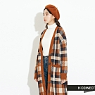 H:CONNECT 韓國品牌 女裝 - 復古格紋針織外套 - 棕