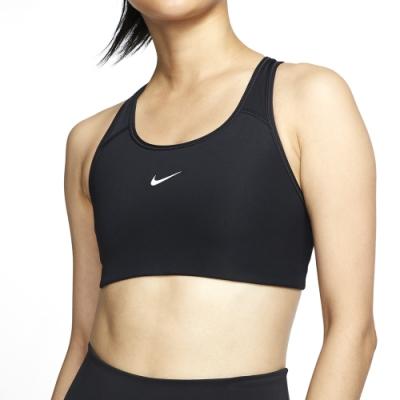 NIKE 運動內衣 女款 中度支撐 明星款 跑步 健身 背心 黑 BV3637010 AS SWOOSH BRA PAD