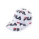 FILA 時尚LOGO帽-白 HTU-1104-WT