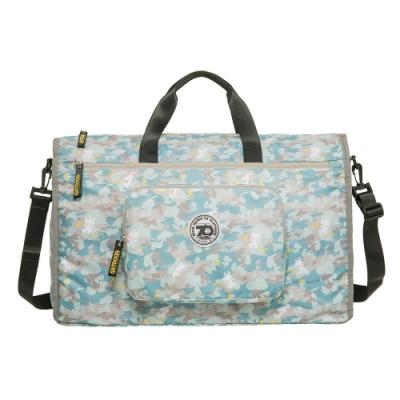 【OUTDOOR】SNOOPY聯名款70週年摺疊旅行袋-迷彩灰 ODP20B01GY
