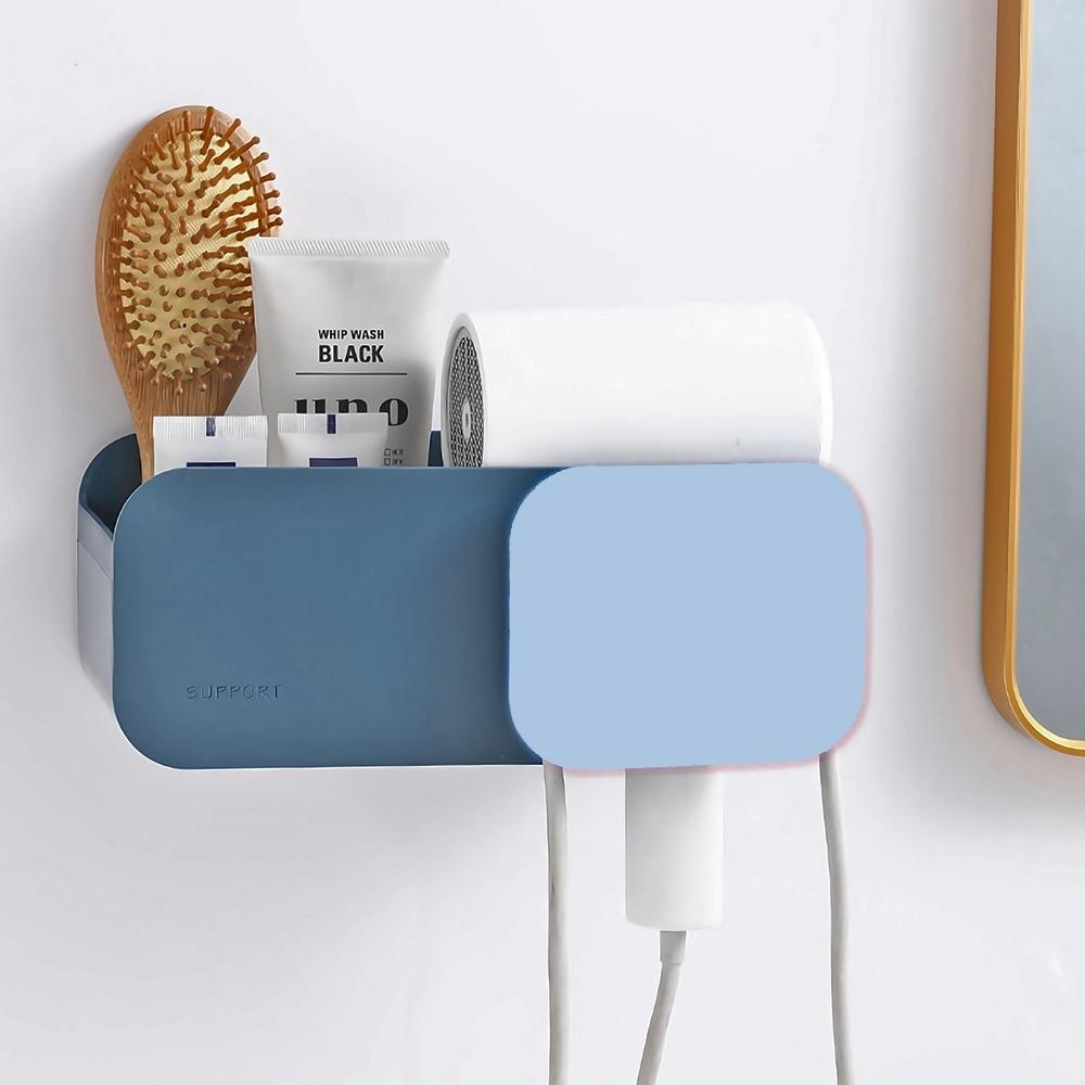 STICK 壁掛吹風機置物架 無痕免打孔 電線收納 吹風機架 浴室防水收納架 透明貼 免鑽牆