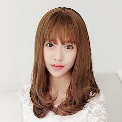 米蘭精品 長假髮整頂假髮-梨花頭內彎中長直髮女假髮4色73rr26