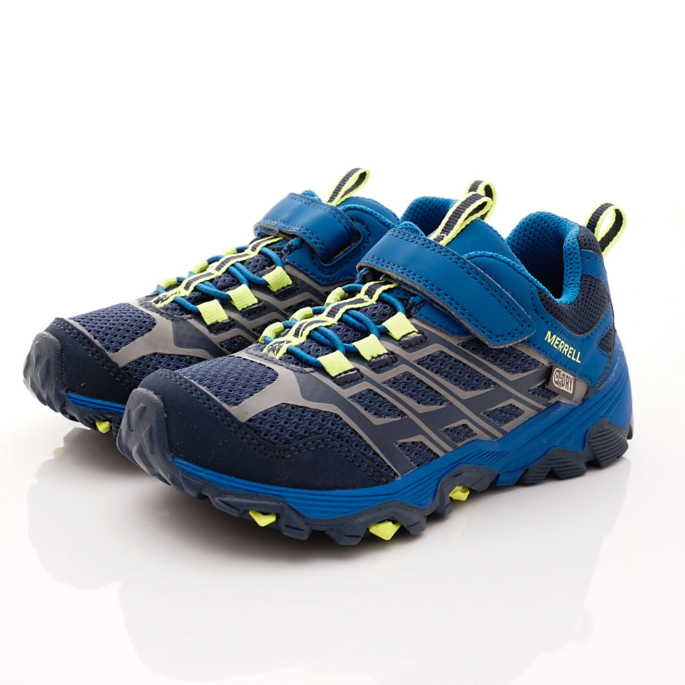 MERREL頂級童鞋 防水速乾耐磨鞋款 260331藍(中小童段)