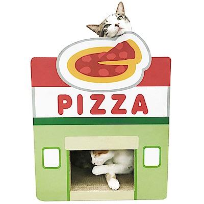 寵喵樂 美食街 披薩屋造型貓抓板 SY-472