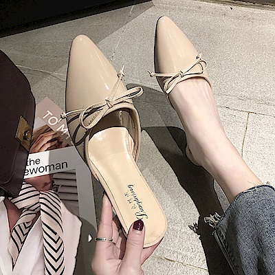 KEITH-WILL時尚鞋館 韓時尚舒適百搭軟皮尖頭鞋-裸粉色
