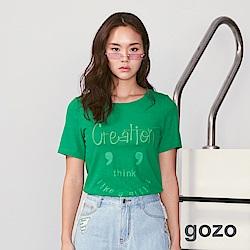 gozo 趣味設計表情圖案T恤(二色)