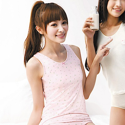 嬪婷-小童120 內搭背心(粉)-涼爽保濕抗菌