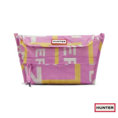 HUNTER - 印花可收納尼龍多用途包-粉色