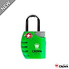 CROWN 皇冠 TSA 鑰匙海關密碼鎖 鎖頭掛鎖 螢光綠