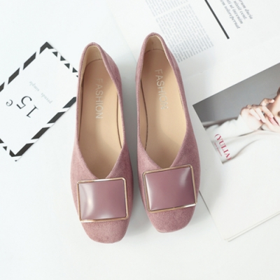 KEITH-WILL時尚鞋館 柔美愛戀淺口平底鞋 粉