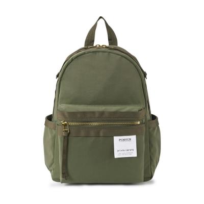 PORTER - 手感記憶CREASE完美機能後背包 - 橄欖綠