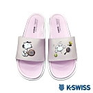 K-SWISS Slide 01 史努比聯名拖鞋-女-粉紅/白