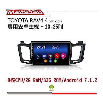 【到府安裝】TOYOTA RAV4 13-18 10.2吋影音安卓主機-MANHATTAN