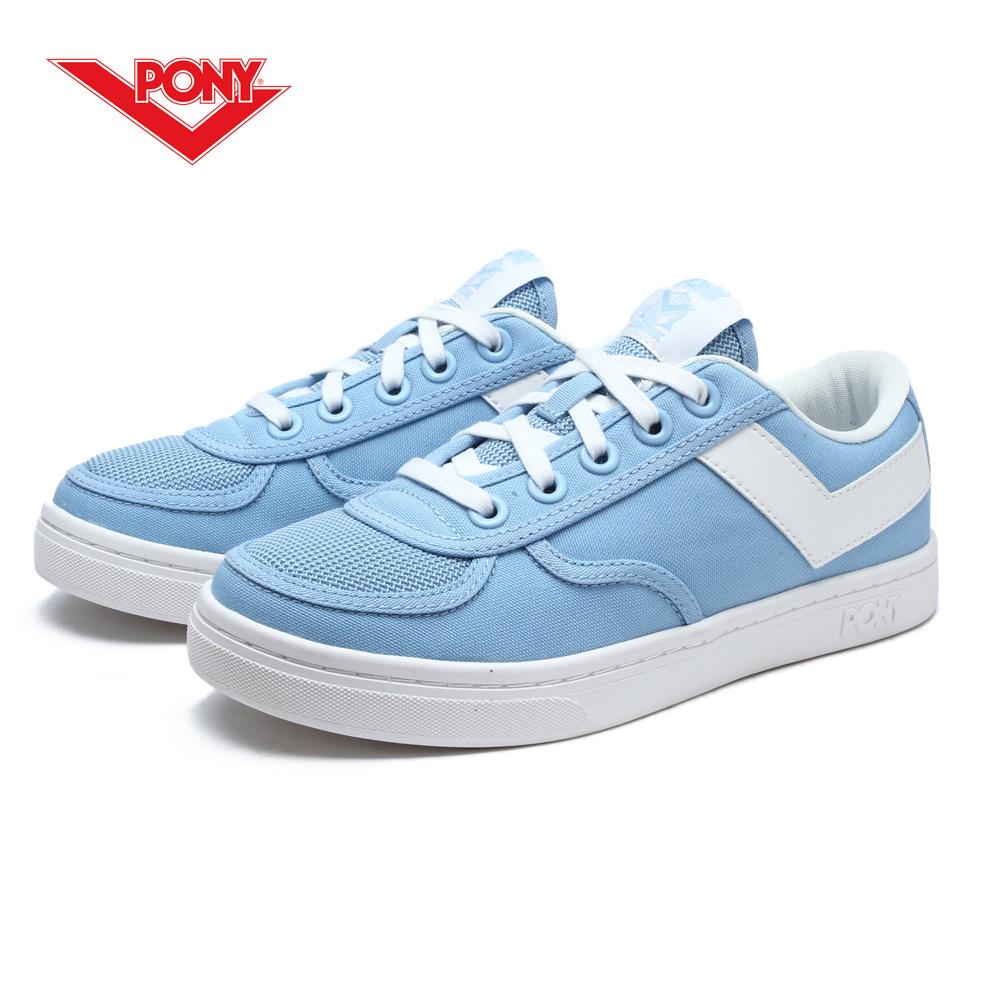 【PONY】Slam Dunk 個性風格滑板鞋款-女-粉藍