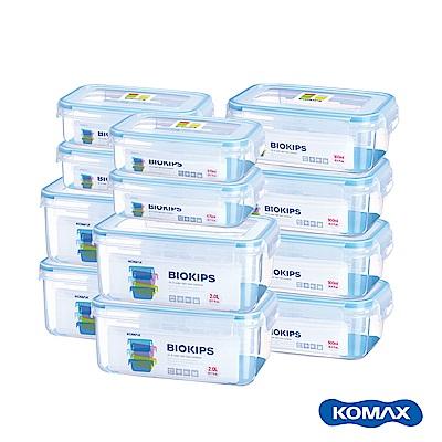 韓國KOMAX BIOKIPS PP保鮮盒12件組(670ml、900ml、2000ml)