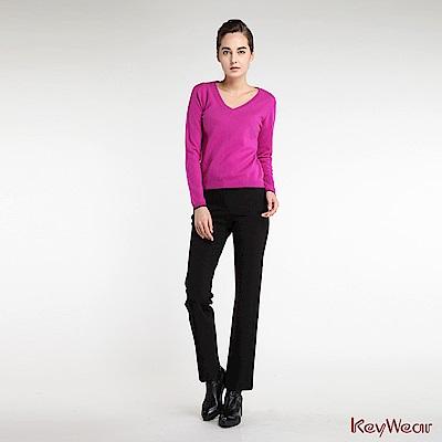 KeyWear奇威名品    經典商務長褲-黑色