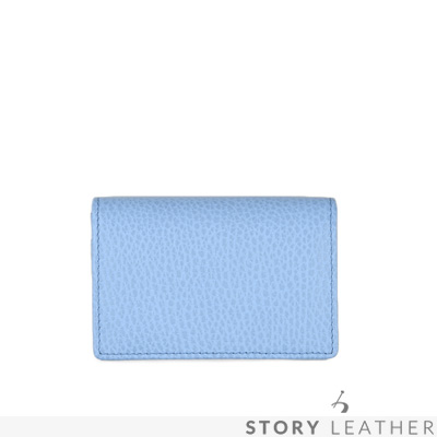 STORYLEATHER Style 00378 牛皮名片夾 荔枝紋水藍