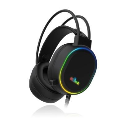 Hawk RGB發光頭戴電競耳麥 G5100