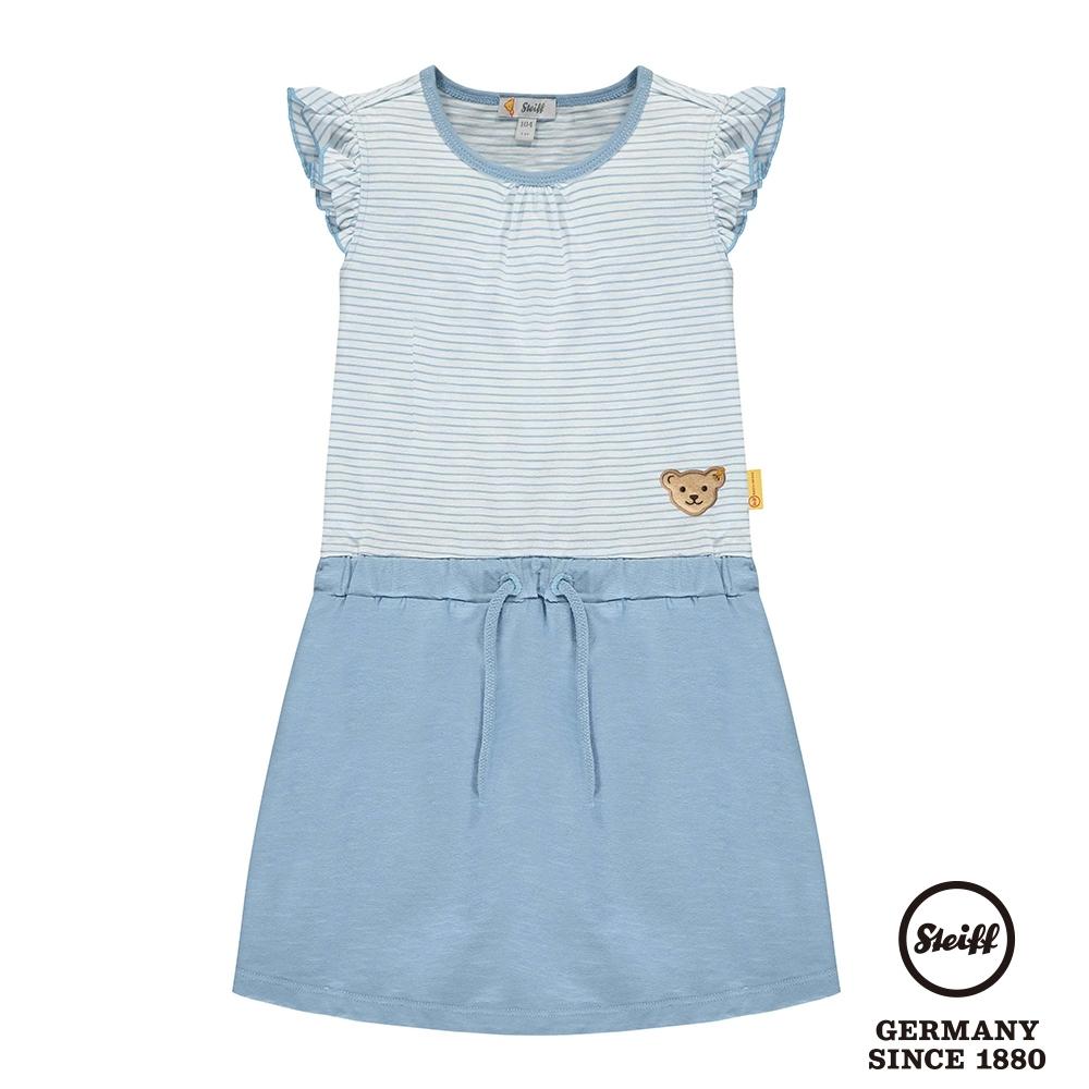 STEIFF德國精品童裝   條紋荷葉袖無袖洋裝