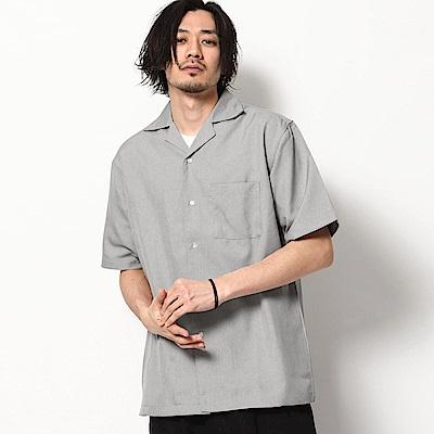 短袖開領襯衫格紋素色開襟襯衫(13色) ZIP日本男裝