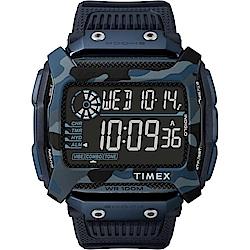 TIMEX 天美時 遠征系列 多功能電子錶-藍/54