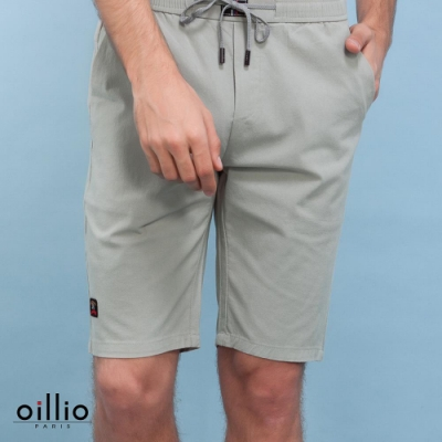 oillio歐洲貴族 透氣彈力修身短褲 舒適柔軟天然棉 灰色