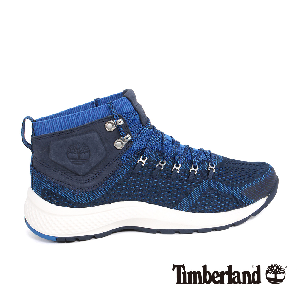 Timberland 男款FlyRoam Trail海軍藍中筒布面靴