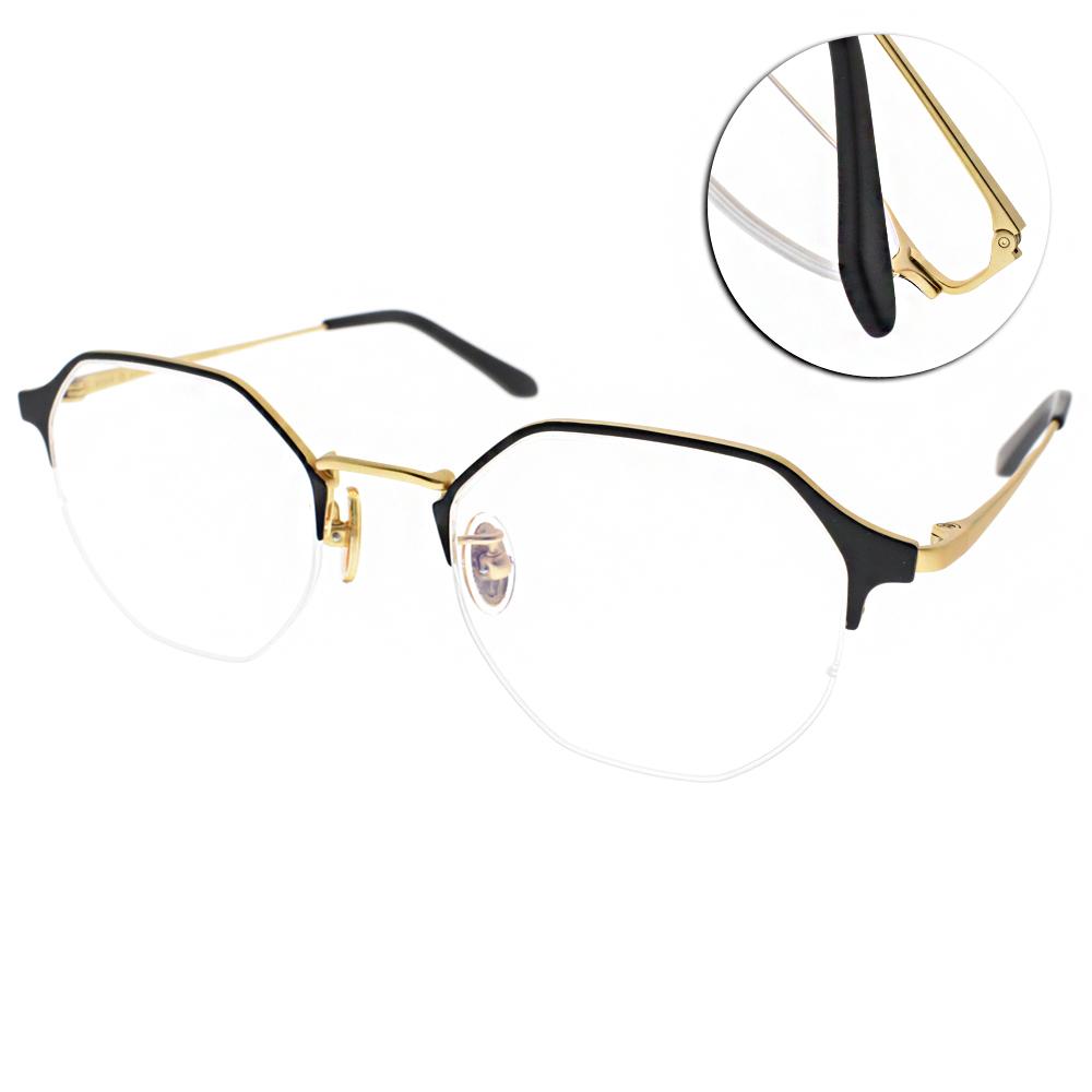 NINE ACCORD眼鏡 韓系造型半框/霧黑金 #TI OWEN C01