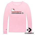 CONVERSE Hello Kitty 女 長袖T恤 粉紅色