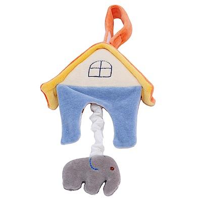 miYim有機棉音樂拉鈴-大象房屋