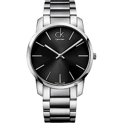 Calvin Klein CK City 極簡時尚手錶-黑x銀/43mm K2G21161