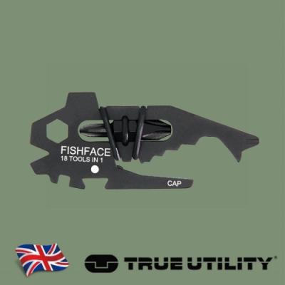【TRUE UTILITY】英國多功能18合1鯨魚造型工具組Fishface (吊卡版)