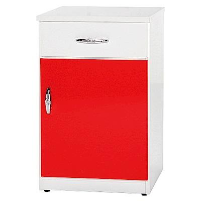 綠活居 阿爾斯環保1.4尺塑鋼單門單抽餐櫃(11色可選)-42x42x81cm免組