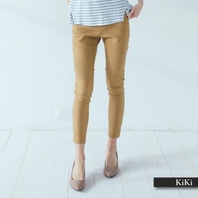 【KiKi】簡約直筒設計-長褲(二色)