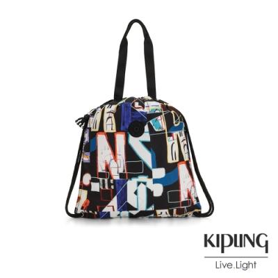 Kipling 街頭音樂塗鴉大容量束口後背包-HIPHURRAY