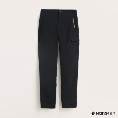 Hang Ten-女裝-ThermoContro-女裝後鬆緊側邊口袋機能長褲-深藍