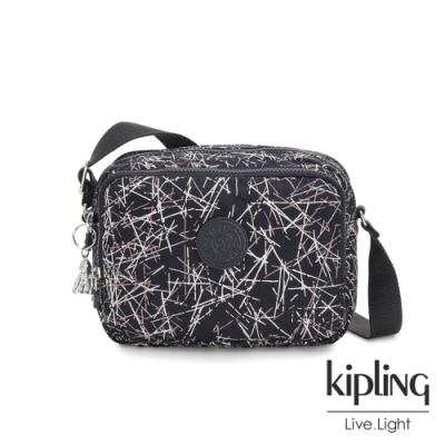 Kipling 英式粉漆塗鴉雙層側背包-SILEN