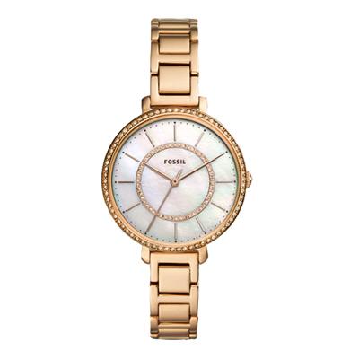 FOSSIL  晶彩錶現珍珠貝殼面腕錶-玫瑰金-ES4452/36mm