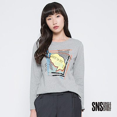 SNS 普普風美式塗鴉燙印設計上衣(2色)